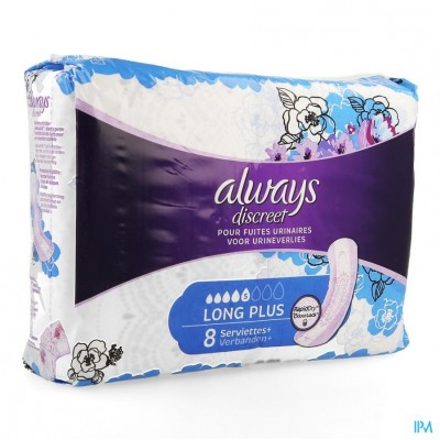 Always Discreet Incontinence Pad Long Plus 8
