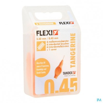 Flexi Orange Borsteltje Ultra Fine Interdentaal 6