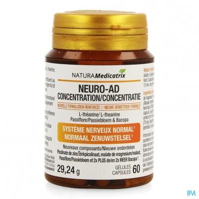 Neuro-ad Concentratie Pot Caps 60