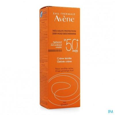 Avene Zon Ip50+ Zonnecreme Getint 50ml