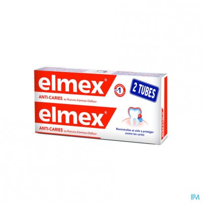 ELMEX® ANTI-CARIËS TANDPASTA TUBE 2x75ML -1.50€