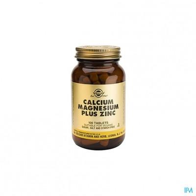 Solgar Calcium Magnesium Plus Zink Comp 100