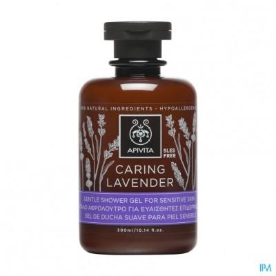 Apivita Caring Lavender Douchegel Gev. Huid 300ml