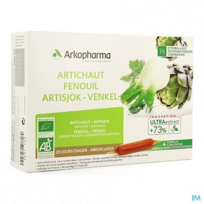 Arkofluide Artisjok Venkel Bio Amp 20