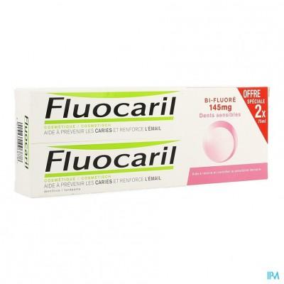Fluocaril Bi-fluore 145 Gevoelige Tanden 2x75ml