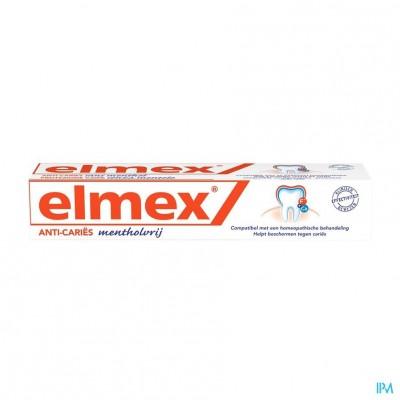 ELMEX® MENTHOLVRIJ TANDPASTA TUBE 75ML