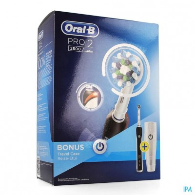 Oral B Pro 2500 Cross Action Black