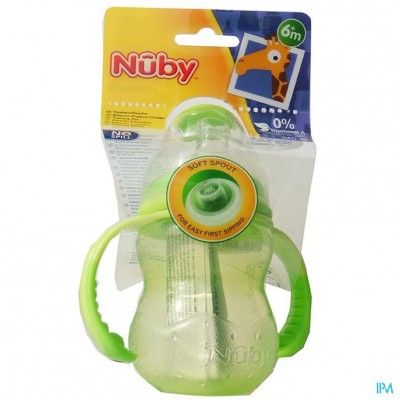 Nûby Trainingsfles met antilektuit - 240ml - 6m+