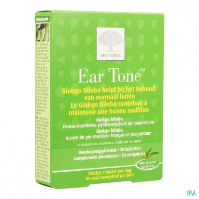 New Nordic Ear Tone Gehoor Evenw. Zenuwen Comp 30