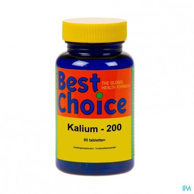 Best Choice Kalium 200 + Vit C Tabl 90