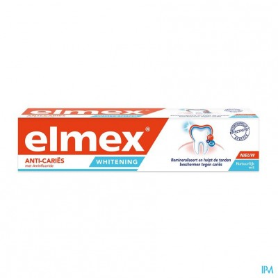 ELMEX® ANTI CARIËS WHITENING TANDPASTA TUBE 75ML
