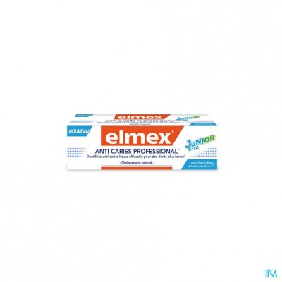ELMEX® ANTI-CARIËS PROFESSIONAL™ JUNIOR 6-12 TANDPASTA TUBE 75ML
