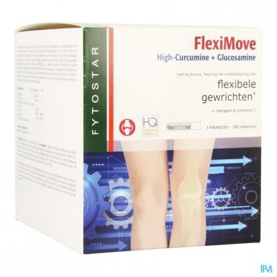 Fytostar Flexi Move Curcumine + Glucosam. Comp 180