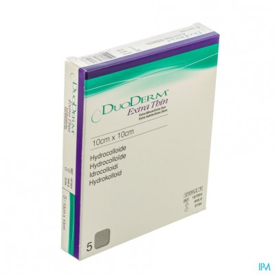 Duoderm Extra Dun Verb Hydro 10cmx10cm 5 H7954