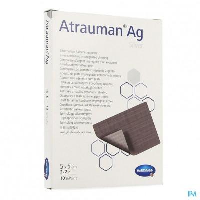 Atrauman Ag 5x5cm St. 10 P/s