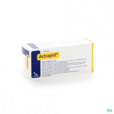 Actrapid 100iu/ml 1 X 10ml
